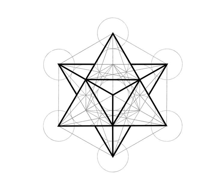 736x613 Symbolic Ink. Metatron's Cube