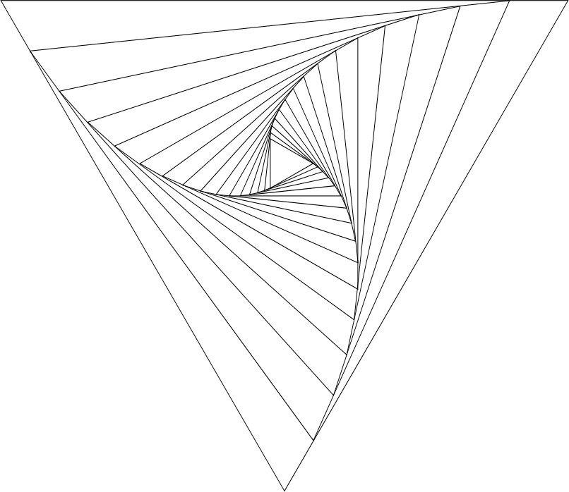 806x698 Simple Geometric Line Art Resume Formats