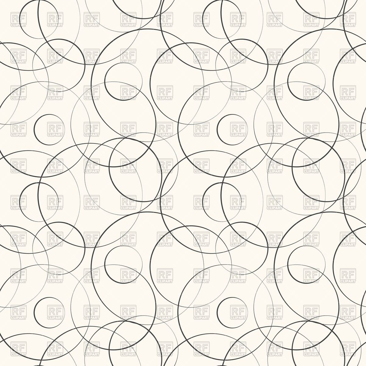 1200x1200 Abstract Geometric Pattern With Curved Lines And Circles Royalty
