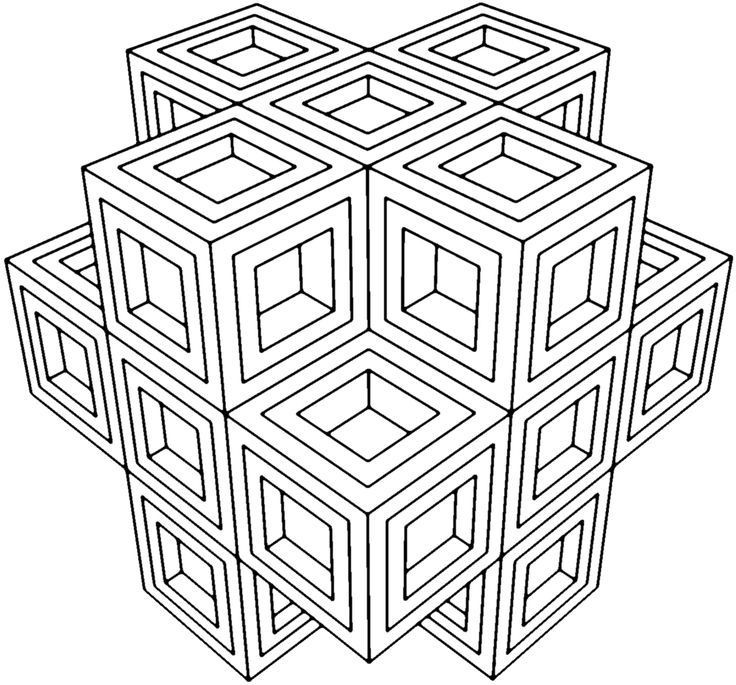736x685 Coloring Pages Cool Geometric Coloring Pages Geometric Coloring