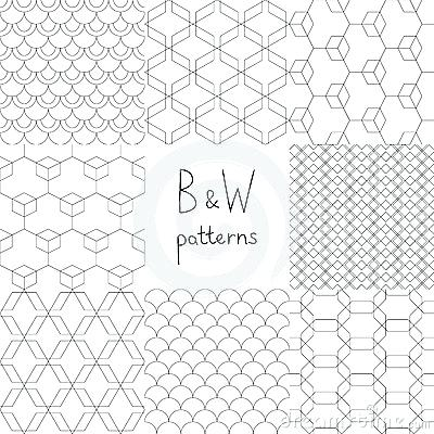 400x400 Simple Geometric Patterns Abstract Black And White Simple