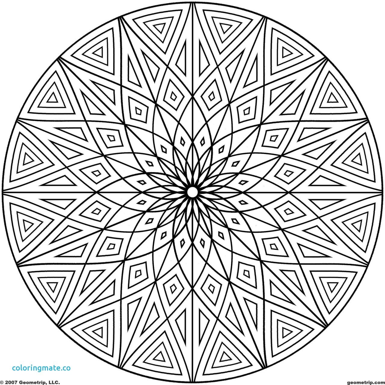 1280x1280 Coloring Pages Patterns Elegant Coloring Design Page Geometric