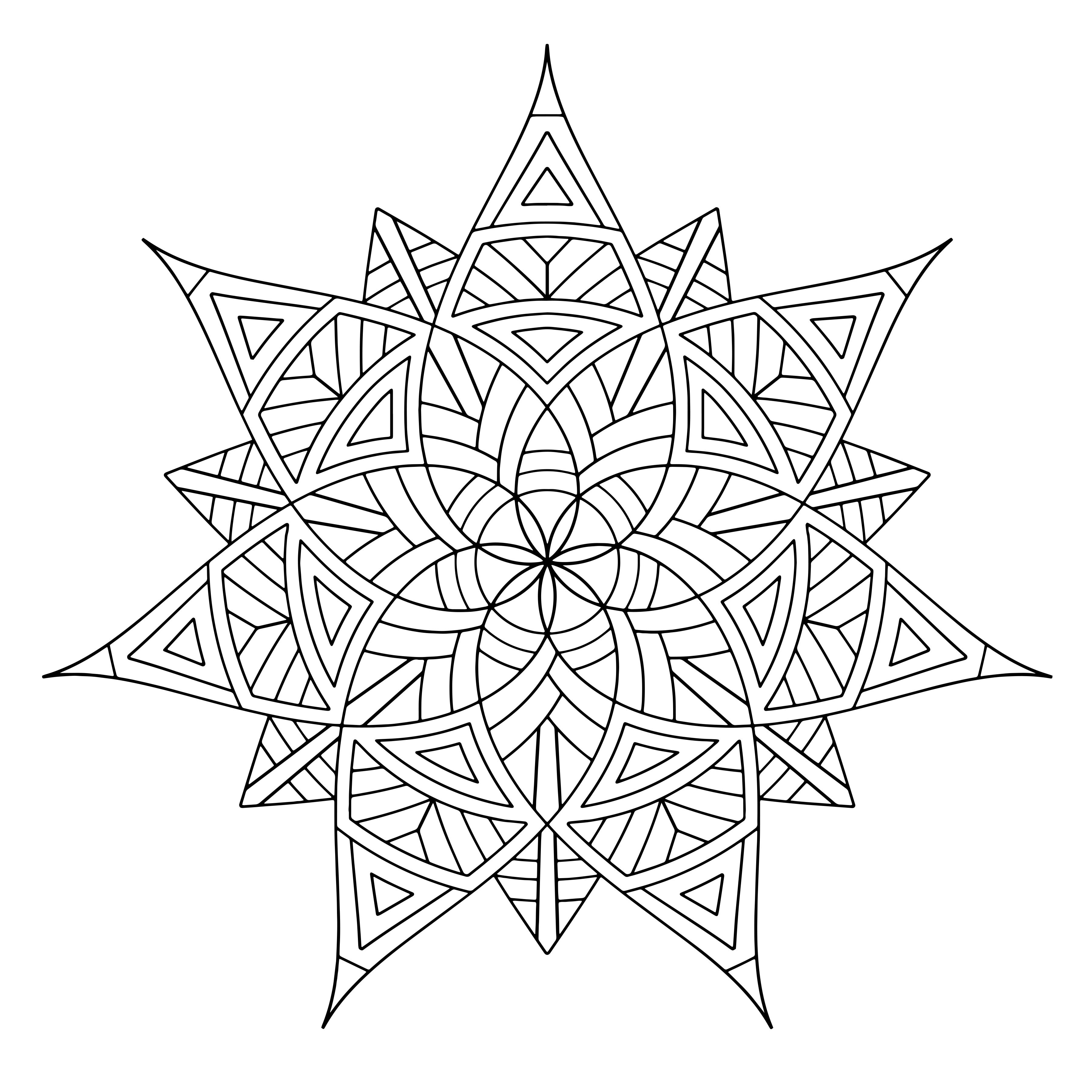 3600x3600 3d Geometric Shapes Coloring Pages Free Draw To Color