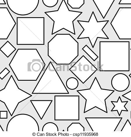 450x470 Geometric Shapes Clip Art Black And White World Of Example