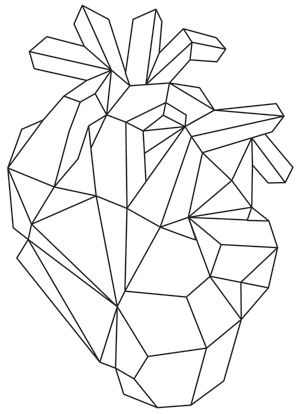 300x414 Geometric Shapes Give A Gem Like Look To This Anatomical Heart