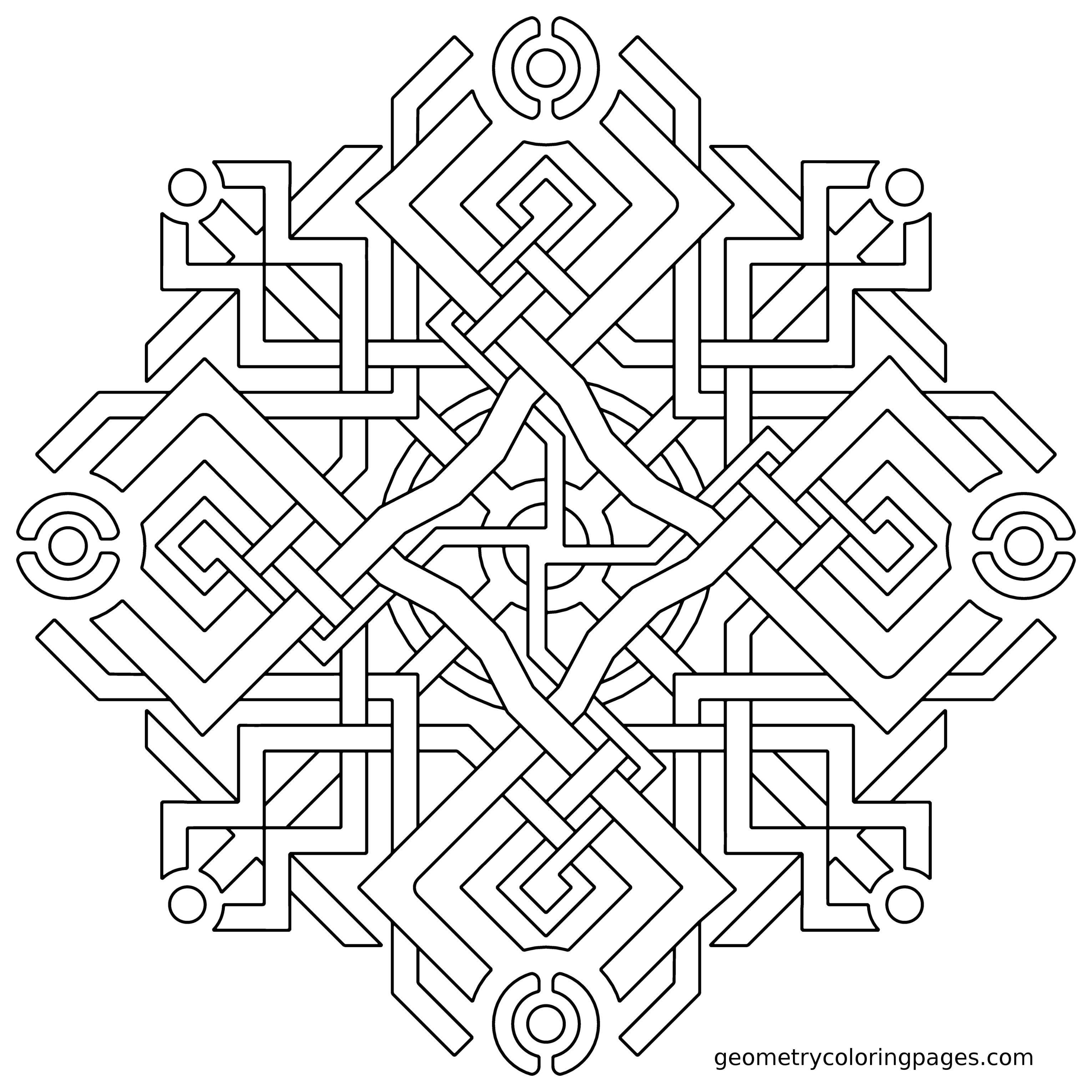 3060x3060 Coloring Page Of Geometric Shapes Free Draw To Color
