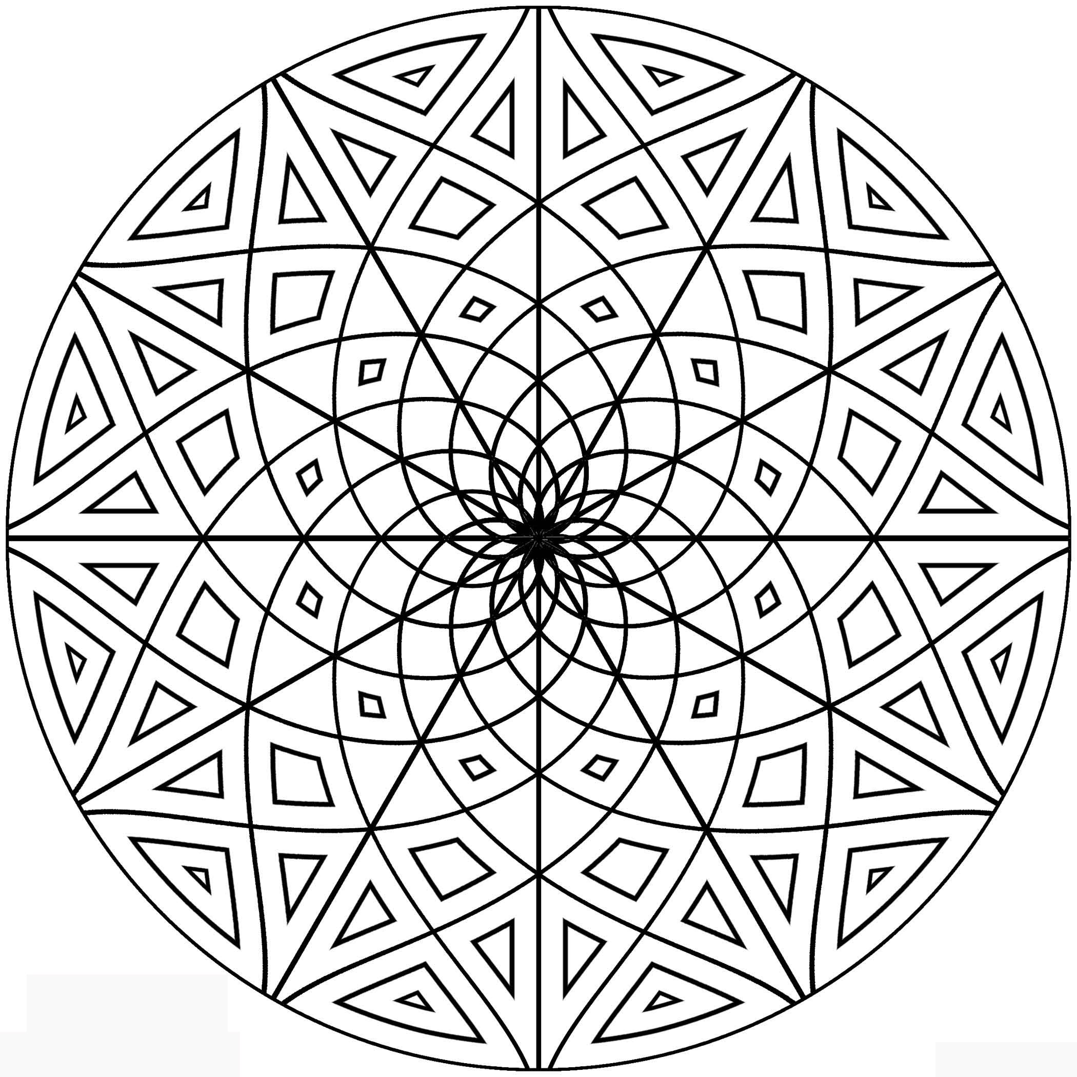 2100x2100 Math Shapes Coloring Pages Free Draw To Color