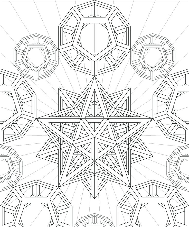 736x883 Geometric Coloring Pages Coloring Pages Geometry Geometric Shapes