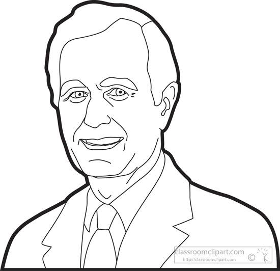 George Bush Drawing
