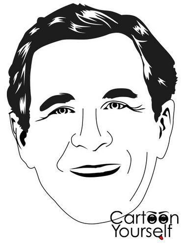 375x500 George Bush Cartoon Yourself