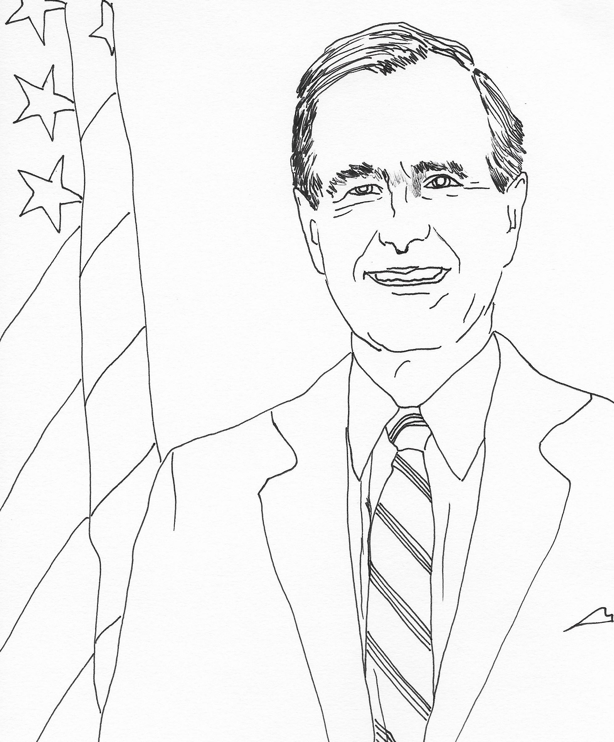 1993x2411 George H. Bush 41st President Of The United States U.s.