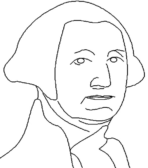 600x681 George Washington In Lineart Drawing George Washington Day