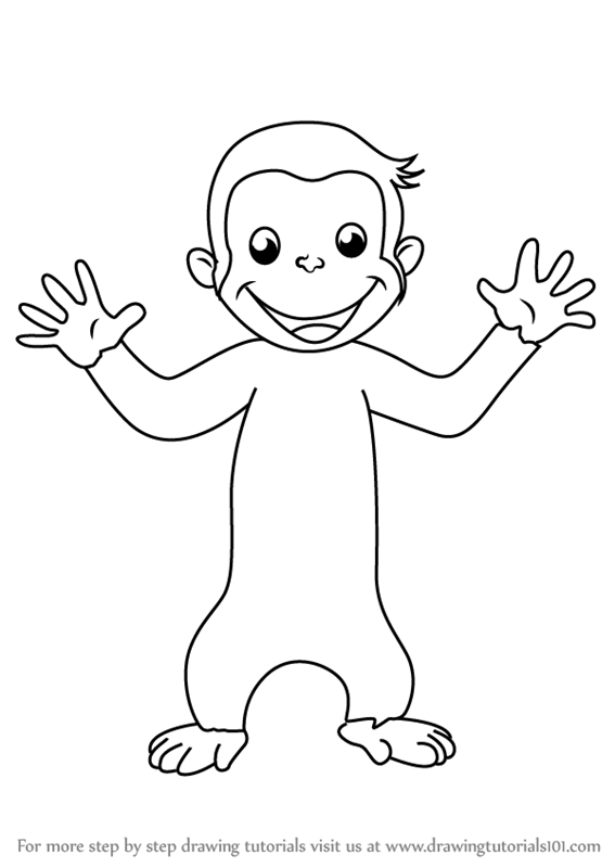 567x800 Learn How To Draw Curious George For Kids (Curious George) Step By