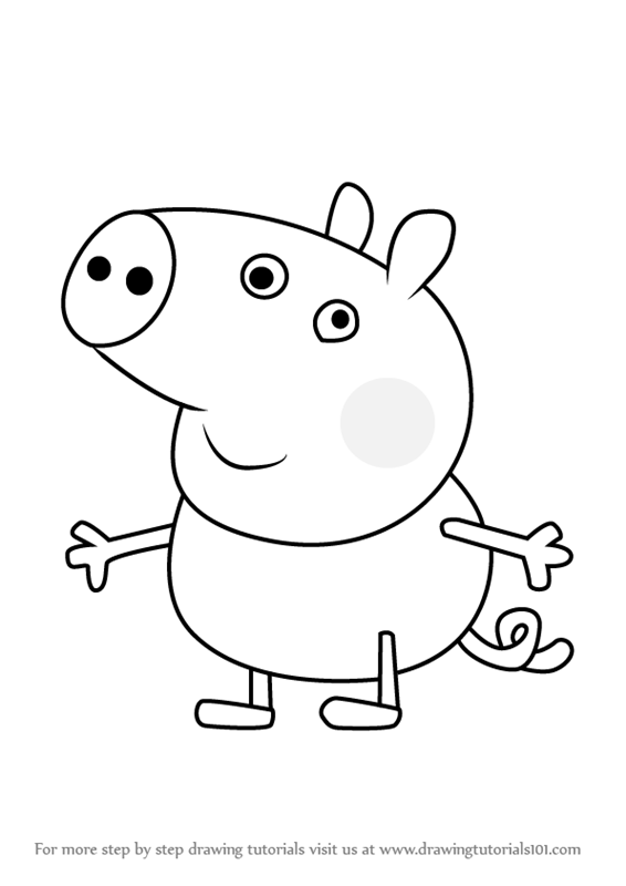 566x800 Learn How To Draw George Pig From Peppa Pig (Peppa Pig) Step By