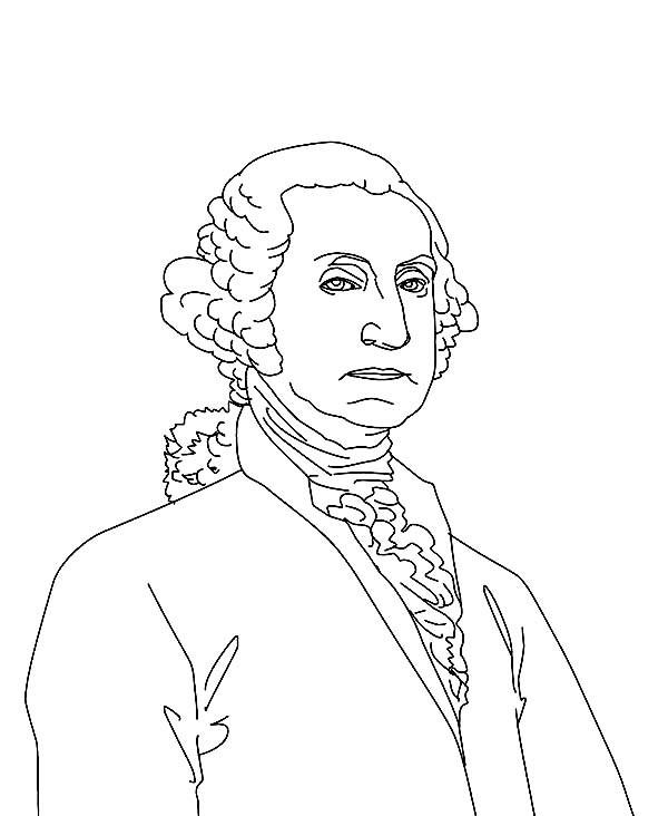 600x732 Sketch Drawing Of George Washington George Washington Day