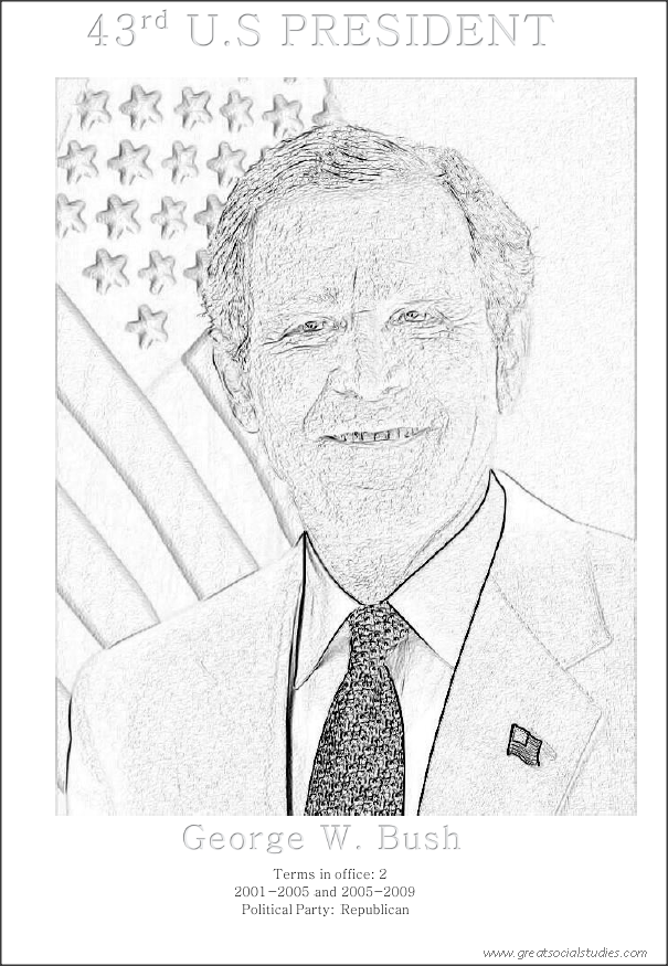 George W Bush Drawing