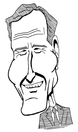 331x556 George H. W. Bush Caricature By Managerpants