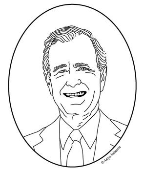 295x350 President George W Bush Coloring Page. 43rd Us President George W