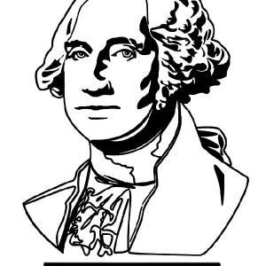 300x300 A Drawing Of George Washington George Washington Day Coloring