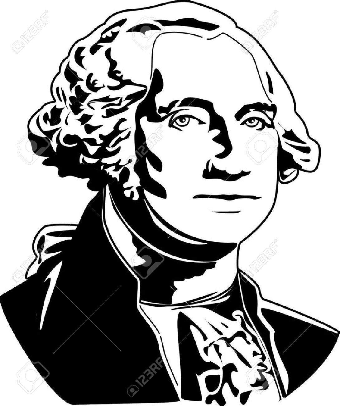 Lujo George Washington Para Colorear Jardín De Infantes Friso ...