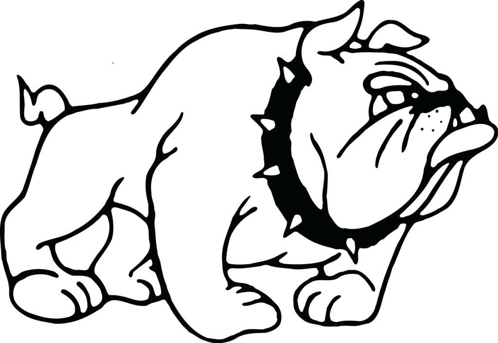 It is an image of Crush Georgia Bulldog Coloring Pages