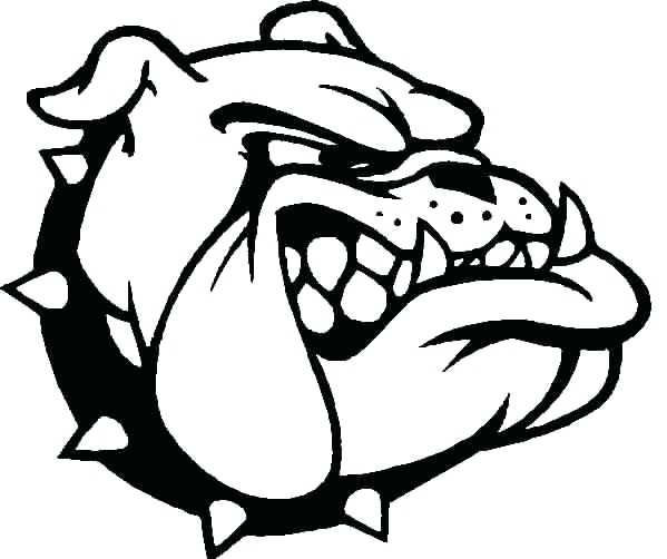 599x502 Georgia Bulldogs Coloring Pages Bulldog Colouring Pages Georgia