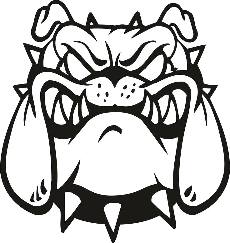 This is an image of Intrepid Georgia Bulldog Coloring Pages