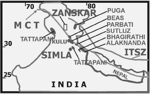 482x304 Geothermal Sub Provinces Of Himalaya. Mct Main Central Thrust