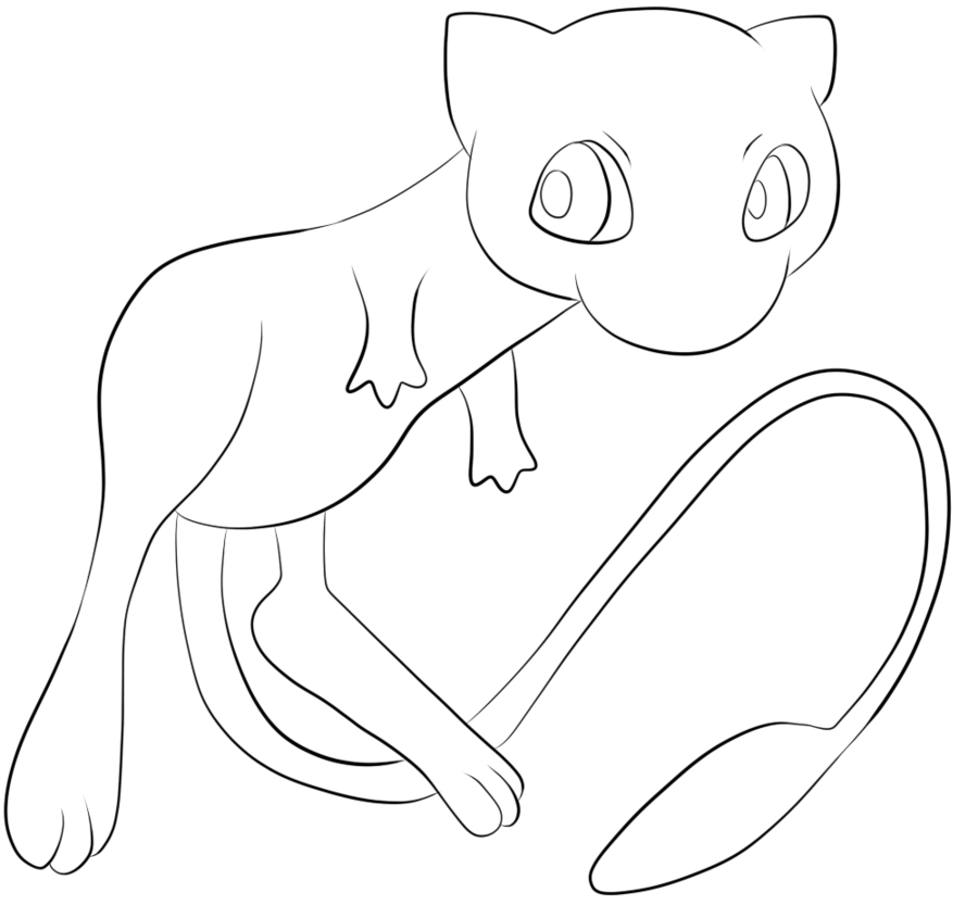 900x833 151 Mew Lineart By Lilly Gerbil On Lineart Pokemon