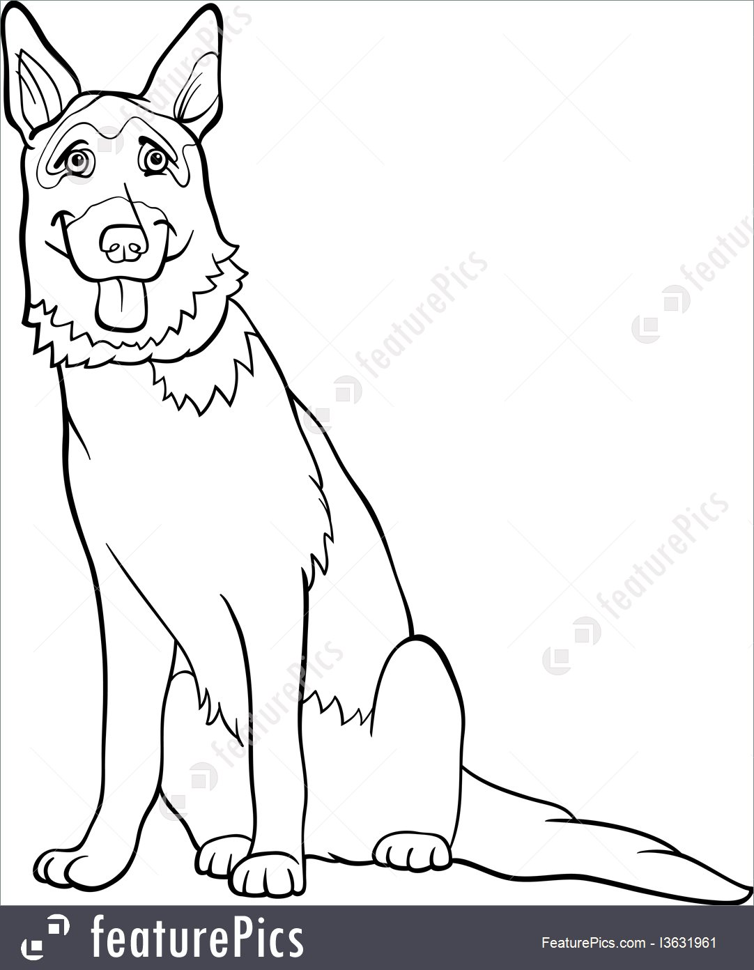 German Shepherd Dog Drawing at GetDrawings.com | Free for ...