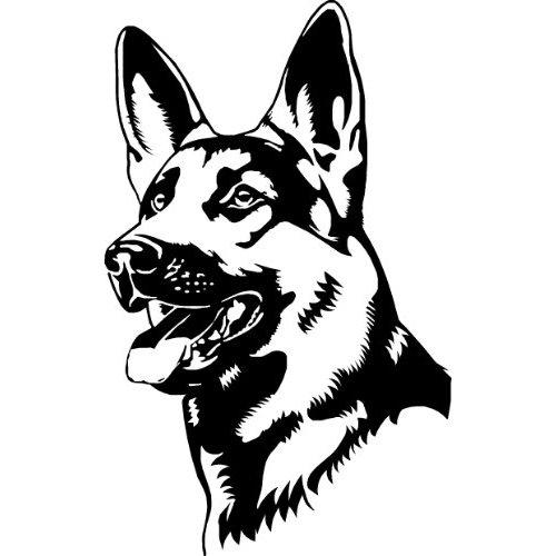 500x500 German Shepherd Alsation Dog Car Window Bike Stickers Sbd9 Vinyl