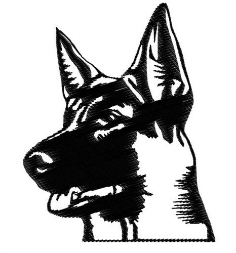 466x500 German Shepherd Head Embroidery Design Annthegran