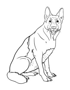 236x305 german shepherd sitting coloring page free printable pages - German Shepherd Coloring Pages Free 3