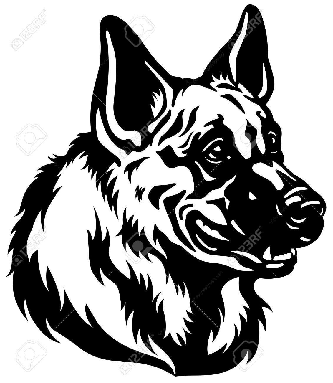 1131x1300 German Shepherd Clipart Black And White