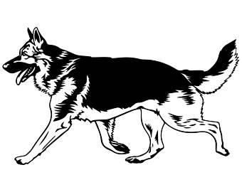 340x270 Police German Shepherd Clipart