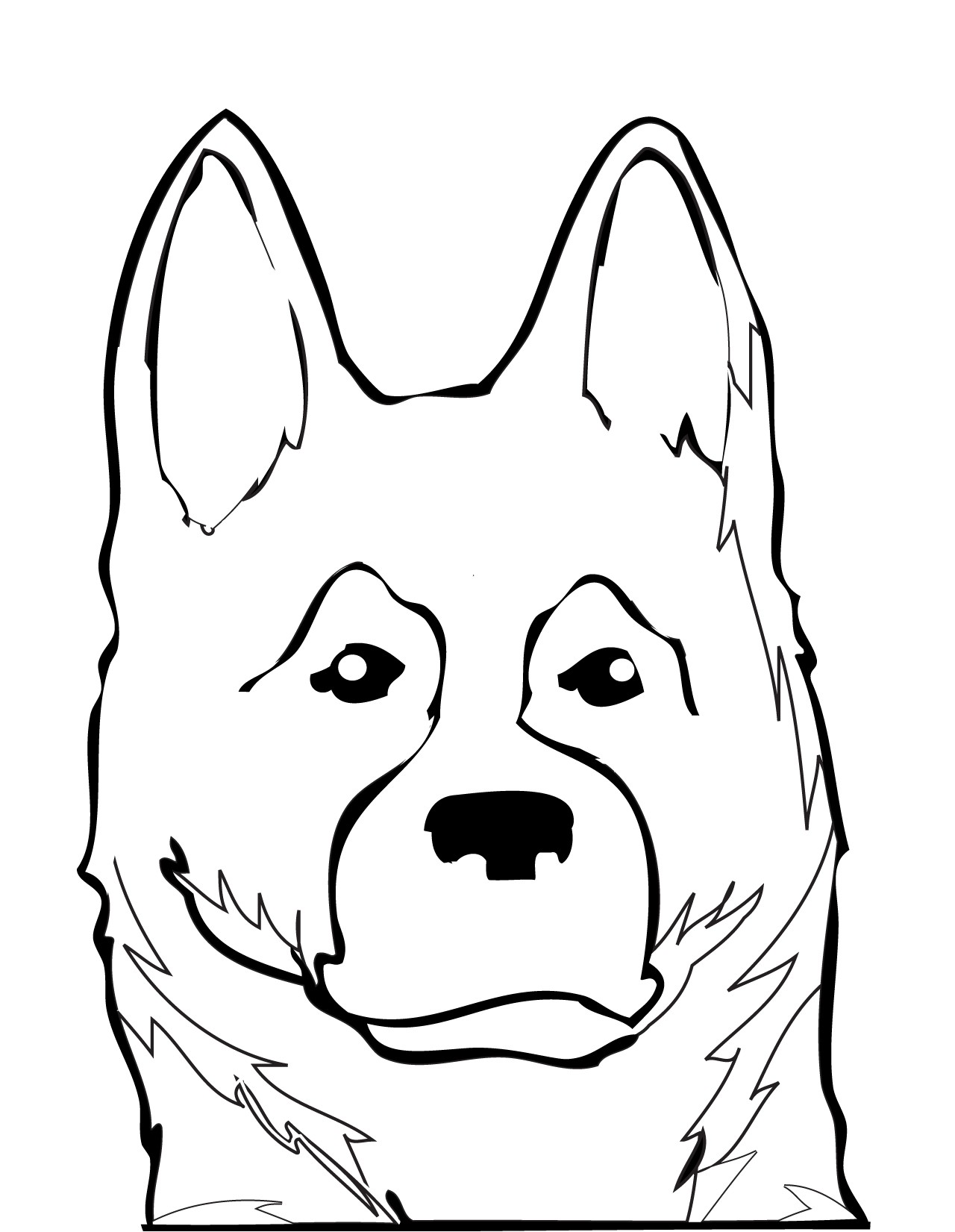 1280x1651 Cute German Shepherd Coloring Pages Free Draw To Color