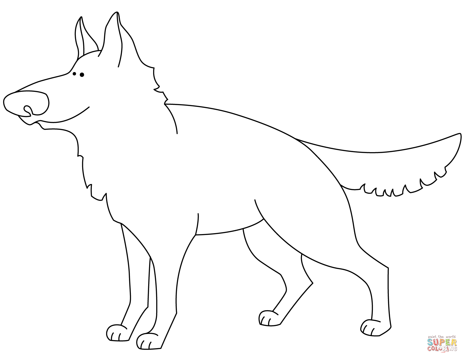 1500x1161 funny german shepherd coloring page free printable coloring pages - German Shepherd Coloring Pages Free 3