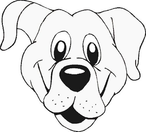 503x456 Coloring Pages Of Dog Faces