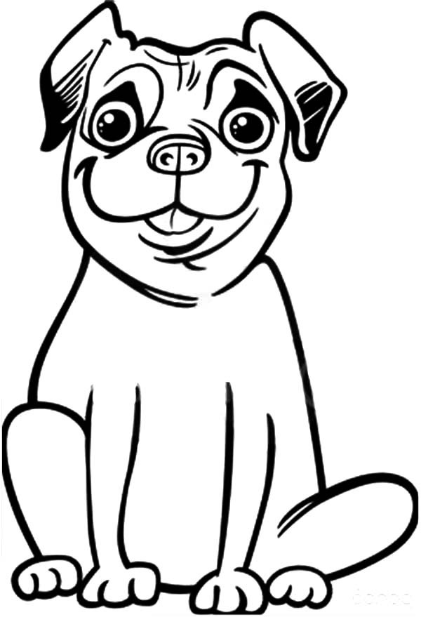 600x879 Dog Face Coloring Page 492806