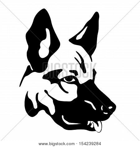 450x470 German Shepherd Dog Head Realistic Vector Amp Photo Bigstock