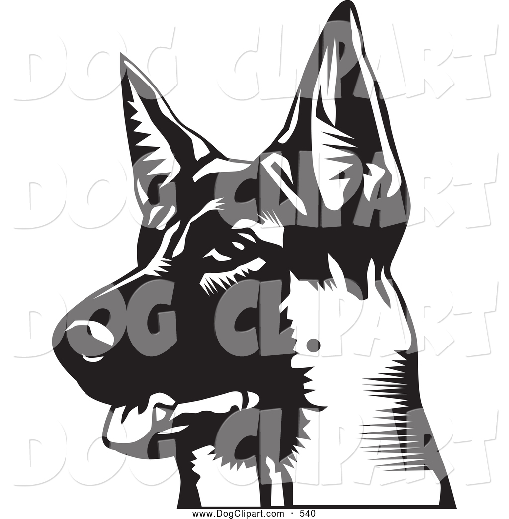 1024x1044 German Shepherd Head Clipart