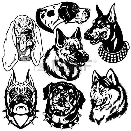 450x450 3,143 German Shepherd Stock Illustrations, Cliparts And Royalty