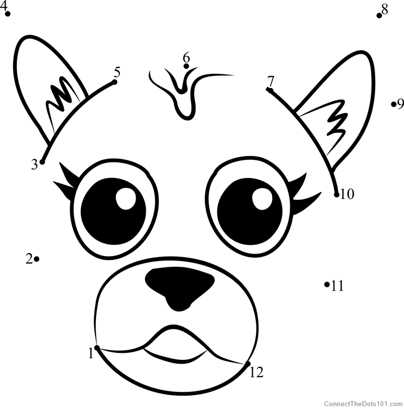 799x812 Pet Parade German Shepherd Puppy Face Dot To Dot Printable