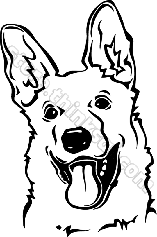 540x812 German Shepherd Head Clipart