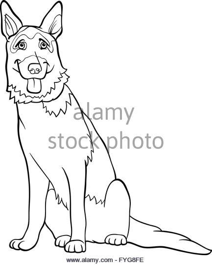 433x540 German Shepherd Cartoon Stock Photos Amp German Shepherd Cartoon