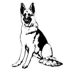 236x236 German Shepherd Dog Portrait Coloring Page Free Printable