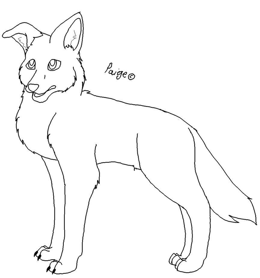 865x923 German Shepherd Pup Lineart By Addictivemind
