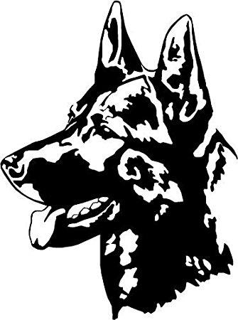 335x450 German Shepherdalsatian Dog Car,van Window Sticker
