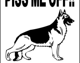 340x270 German Shepherd Sign Etsy