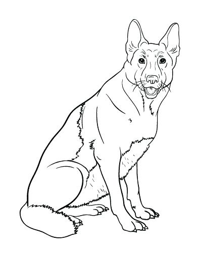 392x507 Great German Shepherd Coloring Pages Online Page Pencil And